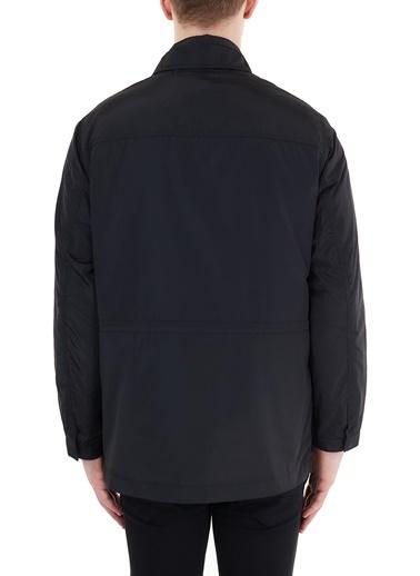Armani Exchange  Çıkarılabilir Dik Yaka Iç Yelekli Kaban Erkek Kaban 6Hzk01 Znfwz 1200 Siyah